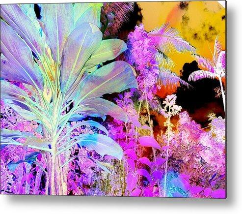 Negative Plants Metal Print featuring the digital art Negative Plants by D Preble