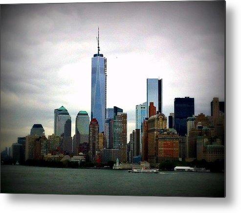 New York City Metal Print featuring the photograph New York Skyline by Jennifer Evans