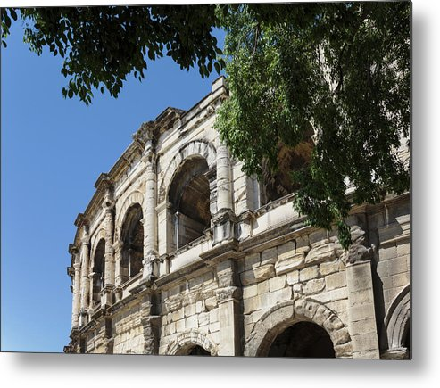 City Life Metal Print featuring the photograph Nimes, France. Roman Amphitheatre by Ken Welsh