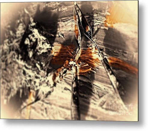 Artist Palette Prints Metal Print featuring the digital art Palette With Sepia Tones by Delona Seserman