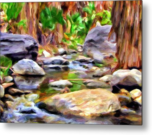 Palm Springs Metal Print featuring the painting Palm Canyon Trail by Michael Pickett