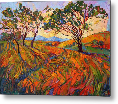 Paso Robles Metal Print featuring the painting Paso Mosaic by Erin Hanson