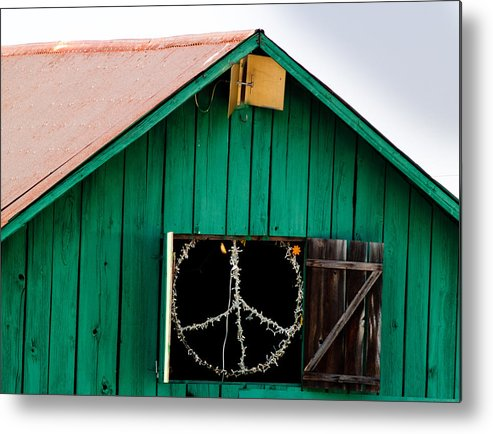 Bliss Metal Print featuring the photograph Peace Barn by Bill Gallagher