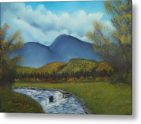 Stream Metal Print featuring the painting Peaceful Valley by Henry Parker