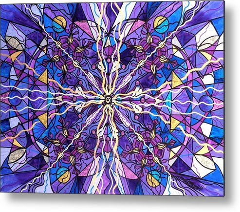 Pineal Opening Metal Print featuring the painting Pineal Opening by Teal Eye Print Store