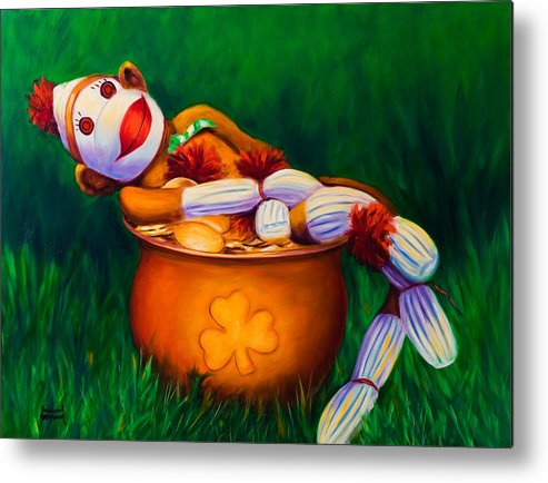 St. Patrick's Day Metal Print featuring the painting Pot O Gold by Shannon Grissom