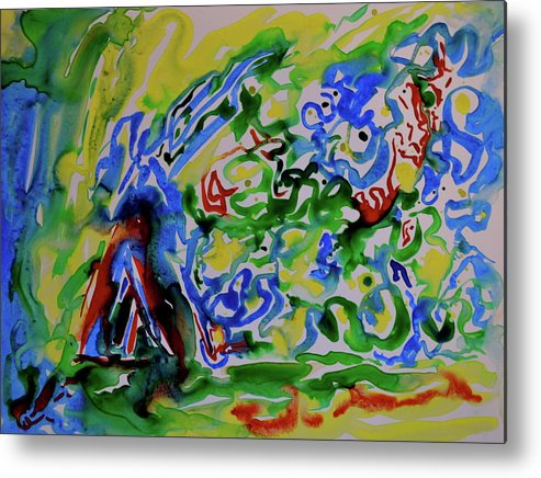 Primary Metal Print featuring the painting Primary Study II Finding The Way by Beverley Harper Tinsley