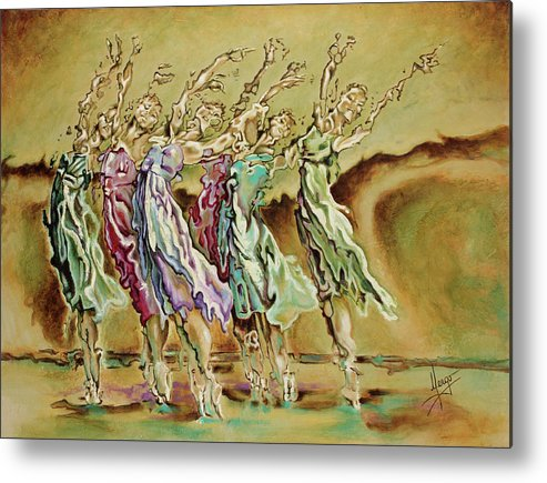 Ballet Metal Print featuring the painting Reach Beyond Limits by Karina Llergo