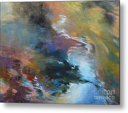 Water Metal Print featuring the painting Ripples No. 2 by Melody Cleary