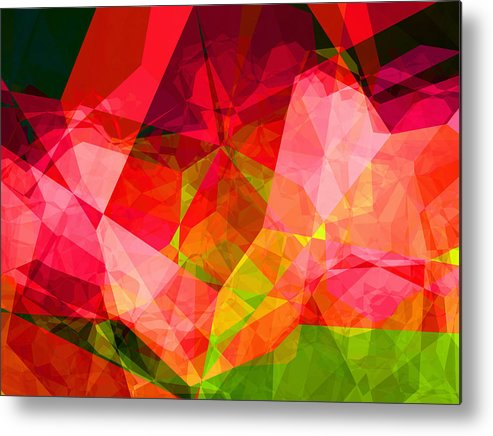 Abstract Metal Print featuring the digital art Roses by Wendy J St Christopher