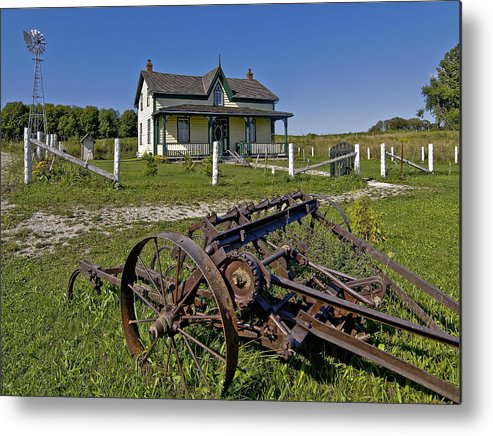 Grey Roots Museum & Archives Metal Print featuring the photograph Rural Ontario by Steve Harrington