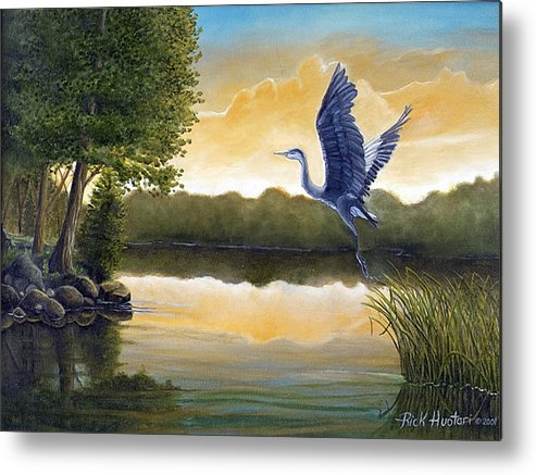 Rick Huotari Metal Print featuring the painting Serenity by Rick Huotari