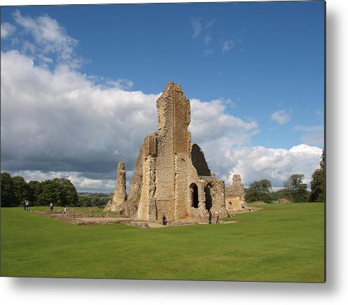 Castle Metal Print featuring the photograph Sherborne Old Castle - 2 by Michaela Perryman