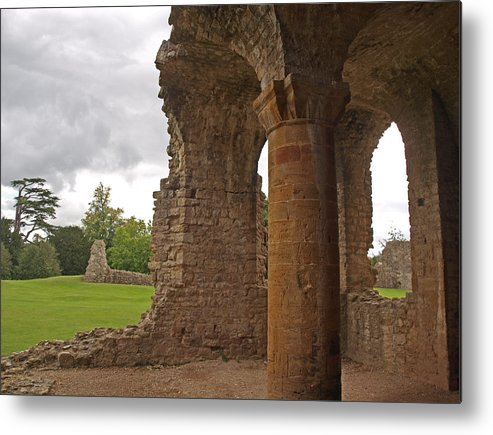 Sherborne Old Castle Metal Print featuring the photograph Sherborne Old Castle 6 by Michaela Perryman