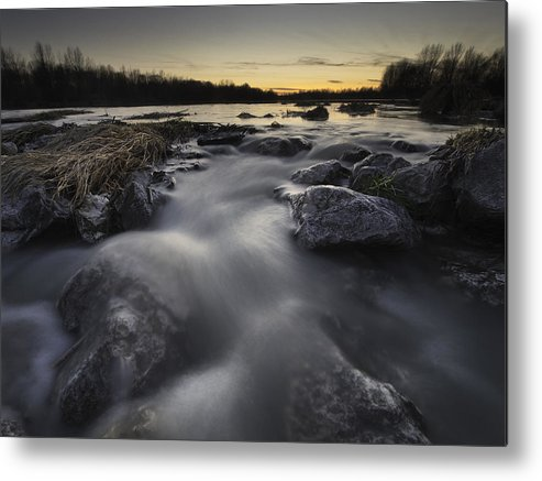 Landscapes Metal Print featuring the photograph Silky River by Davorin Mance