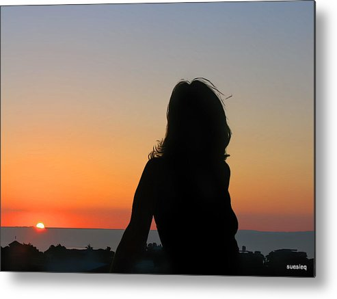 Silhouettes Metal Print featuring the photograph Softly by Sue Rosen