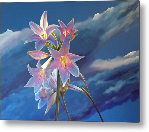 Botanical Metal Print featuring the painting Spellbound by Hunter Jay