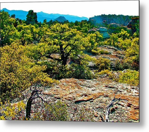 Sunlight On Balanced Rock Trail In Chiricahua National Monument Metal Print featuring the photograph Sunlight On Balanced Rock Trail In Chiricahua National Monument-arizona by Ruth Hager