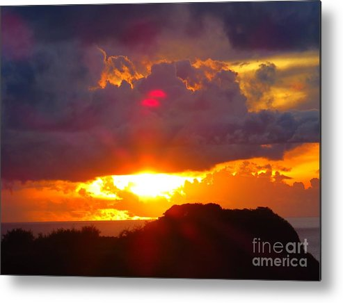 Sunset Metal Print featuring the photograph Sunset Guam - Strange Orbs by Scott Cameron