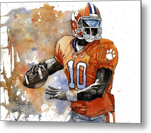 Tahj Metal Print featuring the painting Tahj Boyd by Michael Pattison