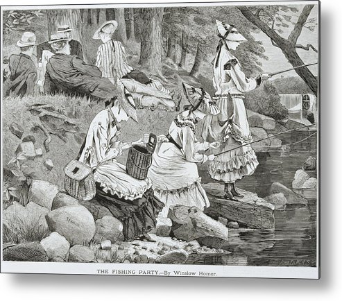 The Fishing Party Metal Print featuring the painting The Fishing Party by Winslow Homer