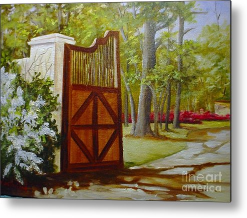 Landscape Metal Print featuring the painting The Gate by Barbara Haviland