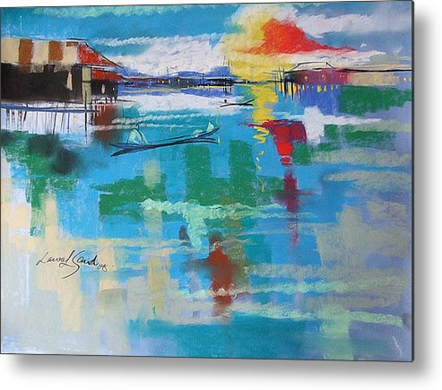 River Metal Print featuring the painting The Glow by Said Oladejo-lawal