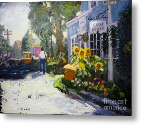 Flowers Metal Print featuring the painting The Week End by Beverly Hanni