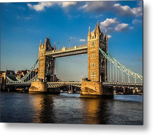 Tower Bridge Metal Print featuring the photograph Tower Bridge by Jason Schwass