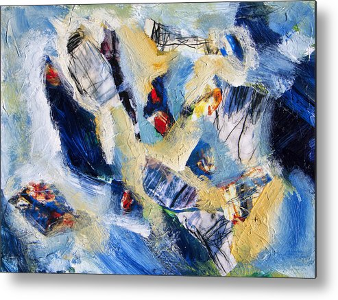 Abstract Metal Print featuring the painting Tsunami 2 by Dominic Piperata
