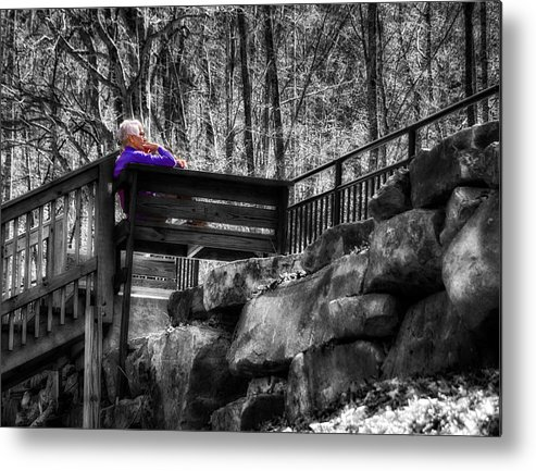 Bridge Metal Print featuring the photograph Waiting In The Sun by Scott Koegler
