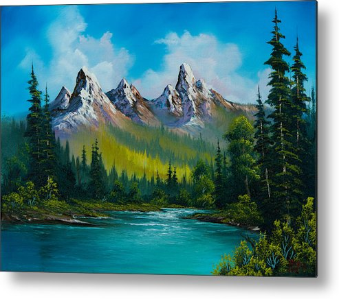 Landscape Metal Print featuring the painting Wild Country by C Steele