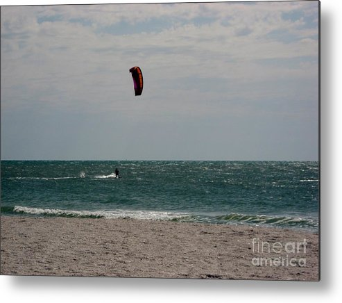 Beach Metal Print featuring the photograph Wind Surfing by Anne Marie Corbett