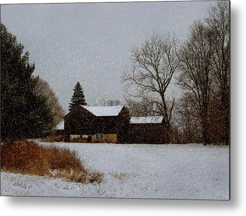 Old Metal Print featuring the photograph Winter Peace by Gordon Beck