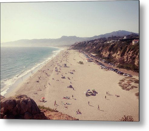 Water's Edge Metal Print featuring the photograph Zuma Beach At Sunset Malibu, Ca by William Andrew