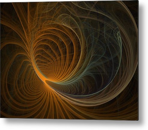Fractal Flames Metal Print featuring the digital art Flower by Michele Caporaso