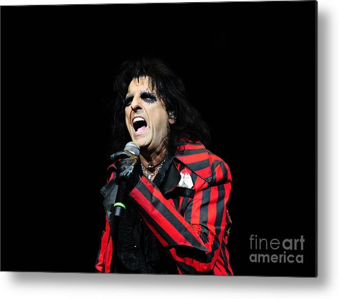 Alice Cooper Metal Print featuring the photograph Alice Cooper by Jenny Potter