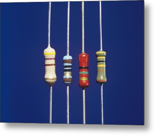 Component Metal Print featuring the photograph Resistors by Andrew Lambert Photography
