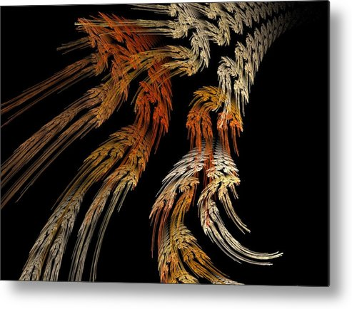 Fractal Flames Metal Print featuring the digital art Flowers by Michele Caporaso