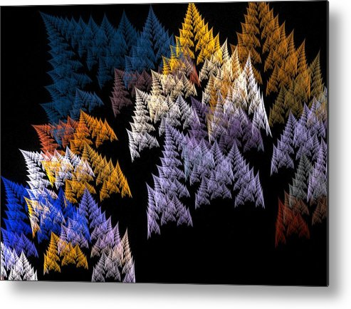 Fractal Flames Metal Print featuring the digital art Ferns by Michele Caporaso