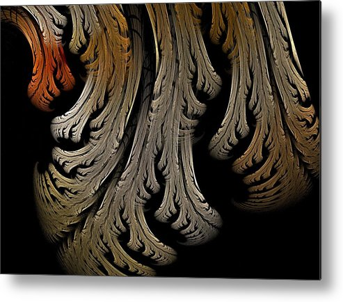 Fractal Flames Metal Print featuring the digital art Leaves by Michele Caporaso