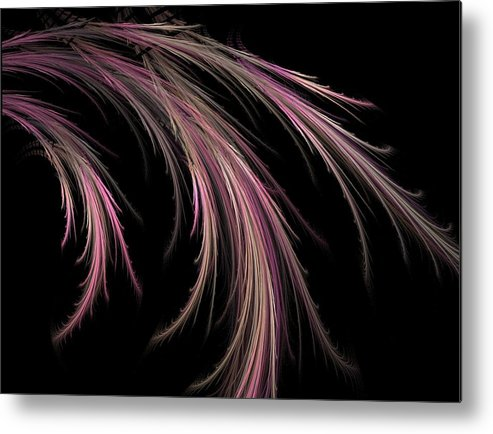 Fractal Flames Metal Print featuring the digital art Grass by Michele Caporaso