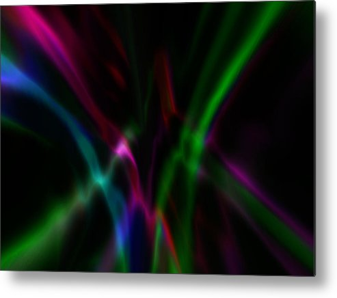 Digital Graphic Metal Print featuring the digital art Color Rays by Mihaela Stancu