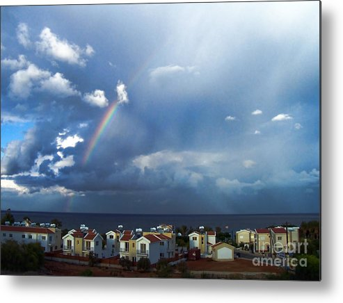 Cyprus Metal Print featuring the photograph Cyprus Rainbow by Holly Lyndon