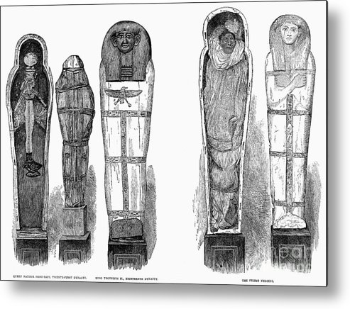 1881 Metal Print featuring the photograph Egypt: Royal Mummies, 1882 by Granger