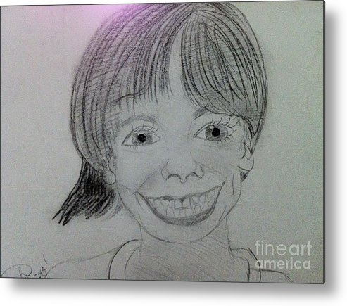 The Late Missing Child Metal Print featuring the drawing Etan Patz by Charita Padilla