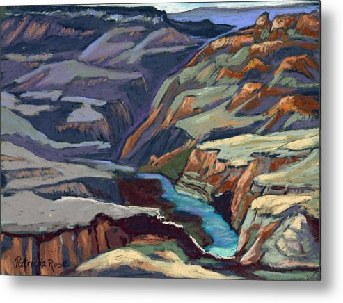 Plein Air Pastel Landscape. Metal Print featuring the pastel Late Afternoon In The Canyon by Patricia Rose Ford