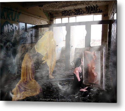 The Haunting Of Girls Gone By Metal Print featuring the digital art My Reflection Ghosts Of Girlfriends Past by Jay Green