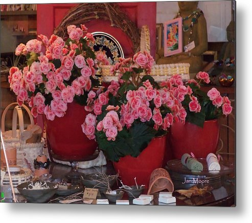 Floral Displays Metal Print featuring the photograph Ron's--a Favorite Store In Grover Beach Ca by Jan Moore