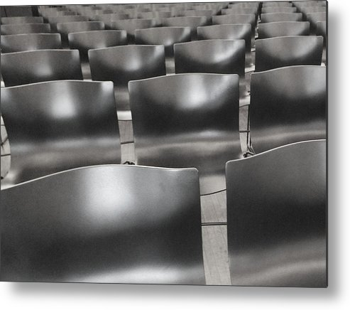 Chairs Metal Print featuring the photograph Sea Of Seats I by Anna Villarreal Garbis